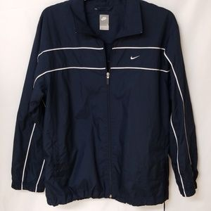 Nike Men's Large Navy Blue Windbreaker Jacket